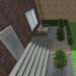 Eenvoudige, strakke nieuwbouwtuin